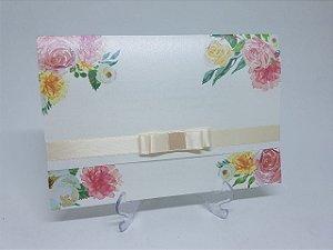 Convite pérola floral