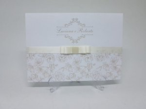 Convite para casamento classico rosas