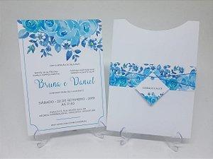 Convite casamento Tiffany floral