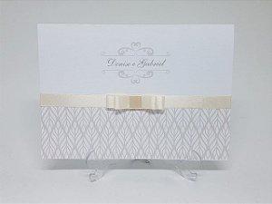 Convite casamento marfim