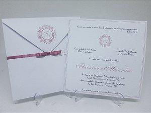 Convite casamento Rosê com brasão