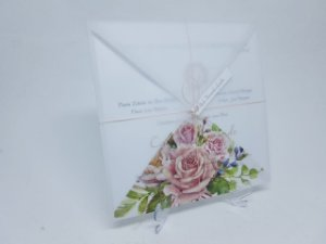 Convite vegetal rosa floral