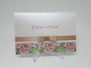 Convite casamento aspen floral