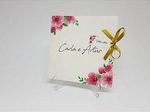 Convite flores para casamento