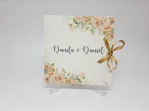 Convite casamento flores suaves