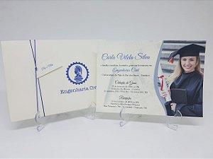 Convite para formatura com foto