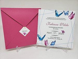 Convite de aniversario borboletas