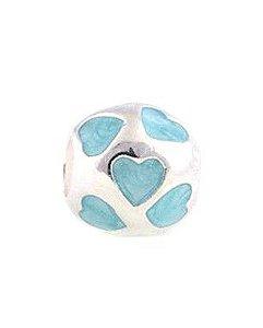 Charm Coração Azul