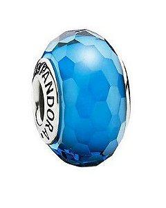 Charm Murano Facetado Azul