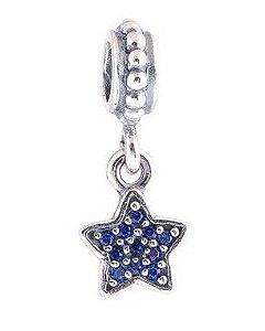 Charm Pendente Estrela Azul