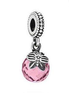 Charm Pendente Pequena Borboleta Rosa