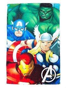 Toalha De Rosto E Mão Avengers Felpuda Infantil Personagens