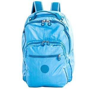 Mochila Escolar Kipling Class Seoul Azul Aço