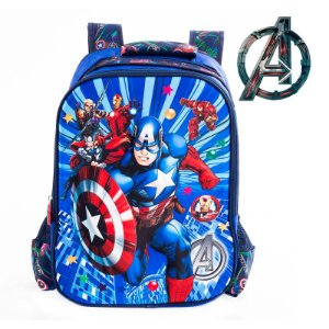 Mochila Infantil Escolar de Costas 3D Avengers