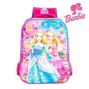 Mochila Infantil Escolar de Costas 3D Barbie