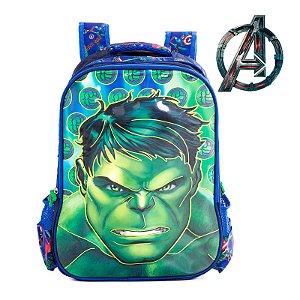 Mochila Infantil Escolar de Costas 3D Hulk
