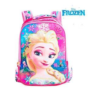 Mochila Infantil Escolar de Costas 3D Elsa Frozen