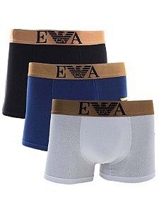 Kit 5 Cueca Boxer Lisa Emporio Armani 3 Cores