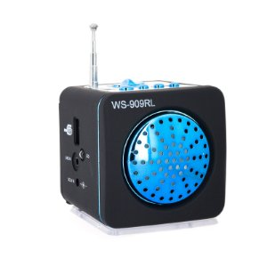 Mini Caixa De Som Portátil Usb Ws - 909rl Mp3 Fm Azul