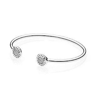 Bracelete Brilho Pandora Rígido Aberto PAND