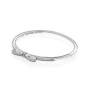 Bracelete Pandora Rígido Laço Brilhante PAND