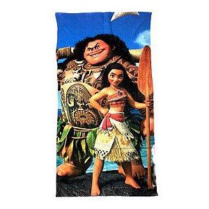 Toalha De Banho Moana com Maui Felpuda Infantil Personagens