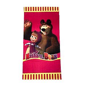 Toalha De Banho Masha e o Urso Felpuda Infantil Personagens