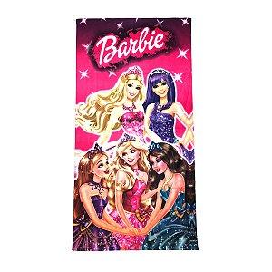Toalha De Banho Barbie Felpuda Infantil Personagens