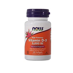 NOW Foods Vitamin D3 5000 Iu QBAR