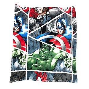 Manta Avengers Microfibra Infantil Personagens