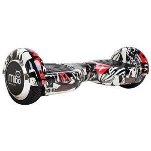 """Scooter Elétrico Mibo com Roda de 6.5"""" e Bluetooth - Branco Caveira"""