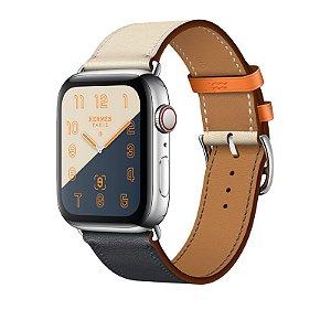 Relógio Apple Watch Series 4 Hermès Branco e Laranja GPS+Celular 44mm