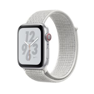 Relógio Apple Watch Series 4 GPS+Celular Prata e Branco Nike 44mm