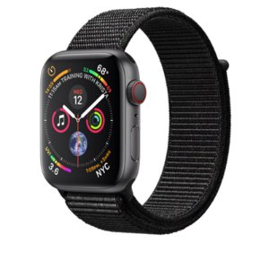 Relógio Apple Watch Series 4 GPS+Celular Preto Espotivo 44mm