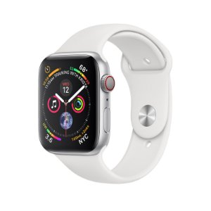 Relógio Apple Watch Series 4 GPS+Celular Prata Esportivo  44mm