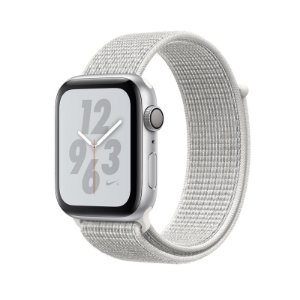 Relógio Apple Watch Series 4 GPS Prata e Branco Esportivo Nike 44mm