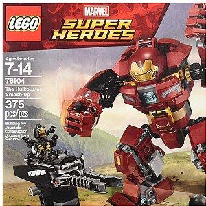 76104 - Lego Marvel Super Heróis Gerra Infinita Hulkbuster Smash-up  ESBJ