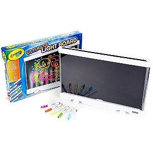 Lousa com Quadro de Luz Crayola Infantil Luz LED com Painel Traseiro Removível  ESBJ