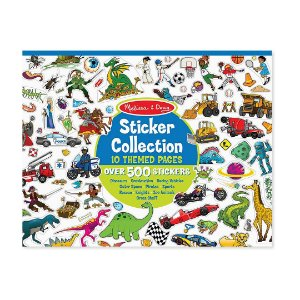 Livro de Coleção Infantil Melissa & Doug com 500 Adesivos  ESBJ
