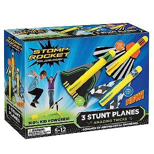 lançador de Aviões Stomp Rocket Stunt Planes 3 Aviões  ESBJ
