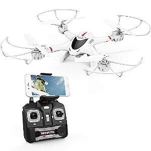 Drone DBPOWER X400W FPV RC Quadcopter Câmera Wi-Fi Função Retorno Headless 2.4 GHz 6 Eixos Gyro RTF DRON