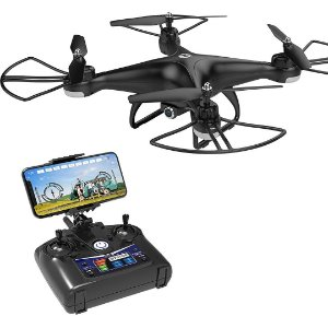 Drone HS110D FPV RC 720p HD Câmera Vídeo 120° Quadcopter WiFi C/ Altitude Headless 3D Flips RTF DRON
