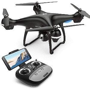 Drone HS100 FPV RC Câmera Vídeo GPS Retorno Quadcopter Ajustável 720p HD Câmera Wi-Fi DRON