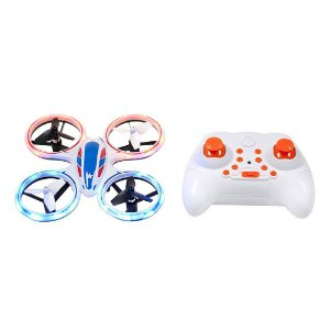 Drone Chopper Sky Patroller Mini LED Stunt RC Quadricóptero360 Flip 2.4GHz DRON