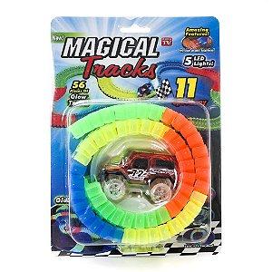 Pista Magic Tracks 56 Peças Pista Magica Brilha no Escuro