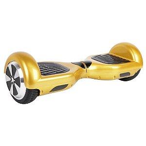 """Hoverboard Elétrico Fujilink Dourado 6.5"""" - Smart Balance - Led"""