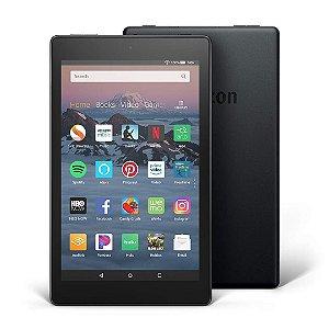 Tablet Fire 8 HD com Alexa Display 16GB Preto e Câmera Frontal e Traseira  2MP
