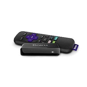 Conversor Roku Express 1080p HD Streaming Transforme Tv em Smart HDMI Controle Remoto