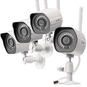 Kit 4 Câmera de Segurança Zmodo IP Wifi com Visão Noturna