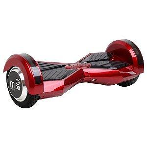 """Hoverboard Elétrico Mibo Vermelho Vinho com Roda de 8.0"""" e Bluetooth"""